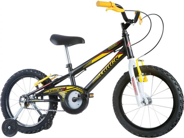 Bicicleta Infantil Track Bikes Track Boy Aro 16 Preto e Amarelo