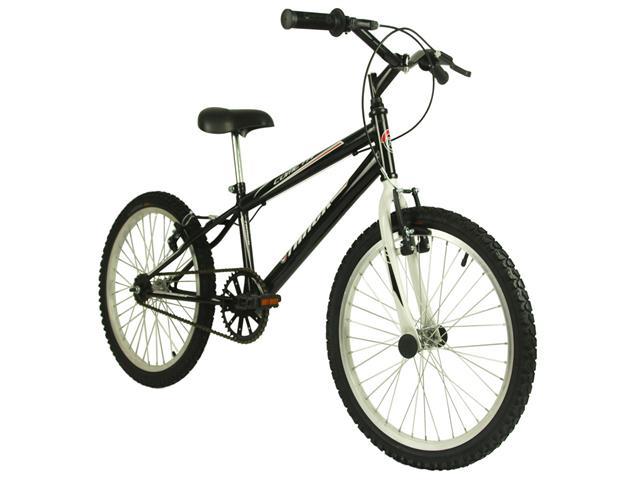 Bicicleta Infanto Juvenil Track Bikes Cometa Aro 20 Preta e Branco
