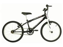 Bicicleta Infanto Juvenil Track Bikes Cometa Aro 20 Preta e Branco - 1