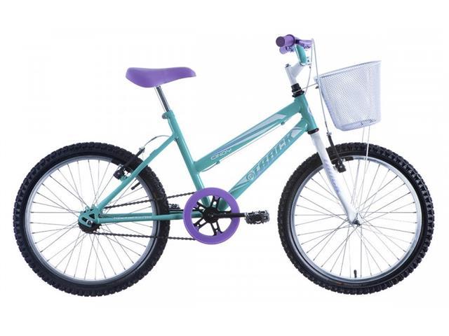 Bicicleta Juvenil Track Bikes Cindy com Cesta Aro 20 Branco e Azul