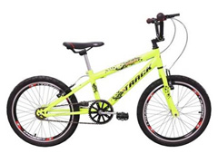 Bicicleta Juvenil Track Bikes Noxx Cross BMX Aro 20 Verde Neon