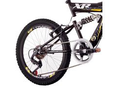 Bicicleta Track Bikes XR20 Full Aro 20 Preto e Amarelo - 3