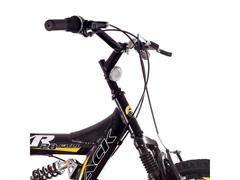 Bicicleta Track Bikes XR20 Full Aro 20 Preto e Amarelo - 1