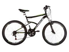 Bicicleta Track Bikes TB Master Mountain 21V Aro 26 Preta e Verde
