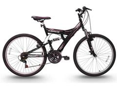 Bicicleta Track Bikes TB 200 Mountain Bike Aro 26 Preta e Rosa - 1