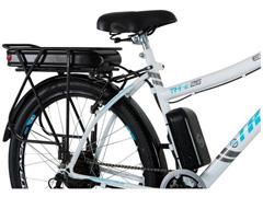 Bicicleta Elétrica Track Bikes TKE Urbana 350W Aro 26 Branca - 3