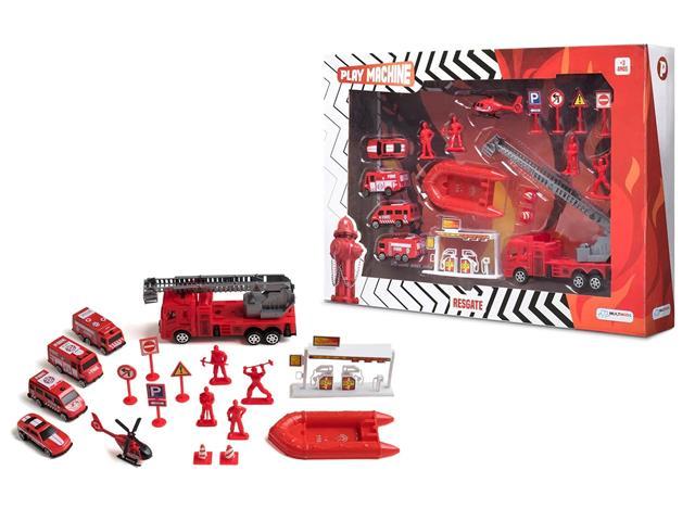 Brinquedo Play Machine Multikids BR969 Bombeiro em Resgate Vermelho