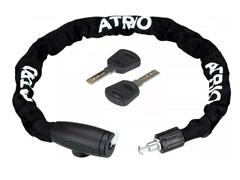Cadeado com Chave Atrio para Bicicleta 8mm Comprimento de 100cm Preto
