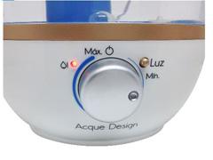Umidificador Gama Italy Acque Design 2,3L Bivolt Azul e Branco - 2