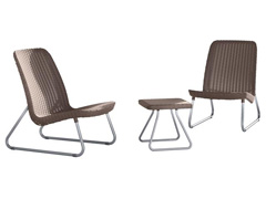 Conjunto Keter de Área Externa Rio Patio Set Mesa e 2 Cadeiras