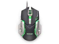 Mouse Gamer Multilaser MO269 2400DPI com 6 Botões Grafite e Preto - 1