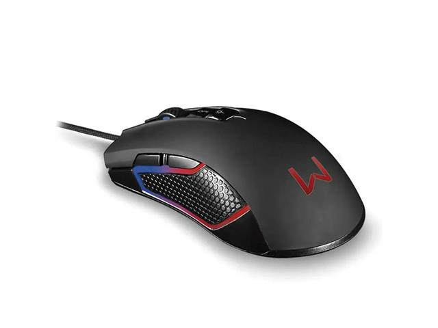 Mouse Gamer Multilaser Warrior MO275 Rgb Perseus Preto