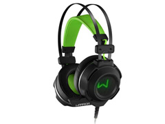 Headset Gamer Multilaser Warrior Swan PH225 USB + P2 Stereo Verde