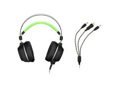 Headset Gamer Multilaser Warrior Swan PH225 USB + P2 Stereo Verde - 3