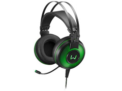 Headset Gamer Warrior Raiko PH259 USB 7.1 3D DigitalSurround LED Verde