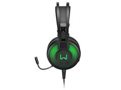 Headset Gamer Warrior Raiko PH259 USB 7.1 3D DigitalSurround LED Verde - 1