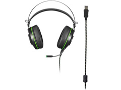 Headset Gamer Warrior Raiko PH259 USB 7.1 3D DigitalSurround LED Verde - 3