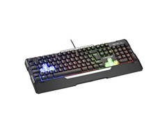 Teclado Gamer Warrior TC208 Wakiza Semi Mecânico LED Rainbow - 0