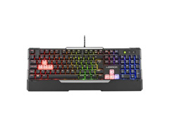 Teclado Gamer Warrior TC208 Wakiza Semi Mecânico LED Rainbow - 2