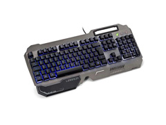 Teclado Gamer Multilaser Warrior TC222 Ragnar Superfície Metal LED - 1