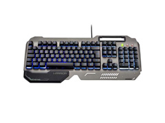 Teclado Gamer Multilaser Warrior TC222 Ragnar Superfície Metal LED