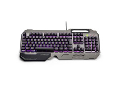 Teclado Gamer Multilaser Warrior TC222 Ragnar Superfície Metal LED - 3