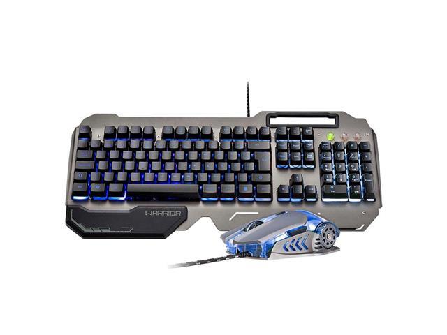 Combo Mutltilaser Warrior Teclado e Mouse Gamer Superfície em Metal