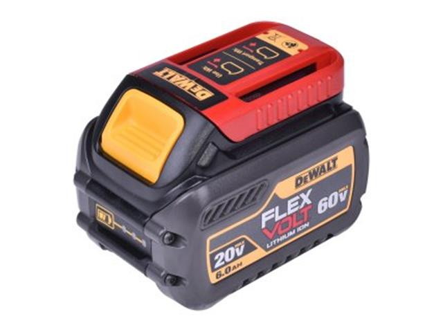 Bateria DeWalt 20V / 60V Flexvolt Li-Ion 6,0Ah com Indicação a LED