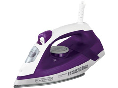 Ferro de Passar Black&Decker com Base Ceramic Gliss Roxo 1200W