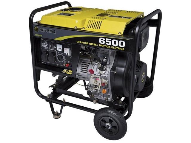 Gerador de Energia à Diesel Matsuyama 6500 PE Monofásico 110V / 220V