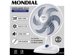Ventilador de Mesa Mondial Maxi Power Branco 6 Pás 40CM - 1