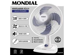 Ventilador de Mesa Mondial Maxi Power Branco 4 Pás 40CM - 1