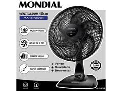 Ventilador de Mesa Mondial Maxi Power Preto 6 Pás 40CM - 1