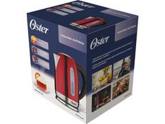 Chaleira Elétrica Oster 1,7 Litros Inox e Vermelho - 7