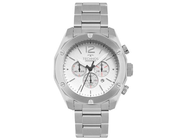 Relógio Technos Masculino Cronógrafo Skymaster Prata OS20HME/1B
