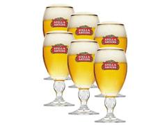 Jogo de Taças de Vidro para Cerveja Stella Artois 6 Unidades de 250ML