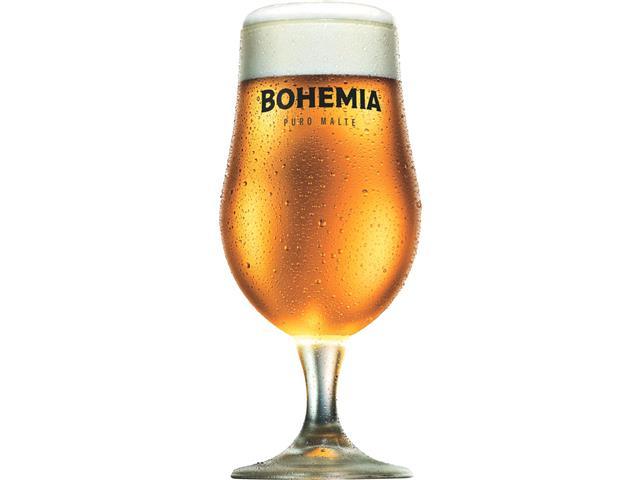 Taça de Vidro para Cerveja Bohemia Puro Malte 380ML