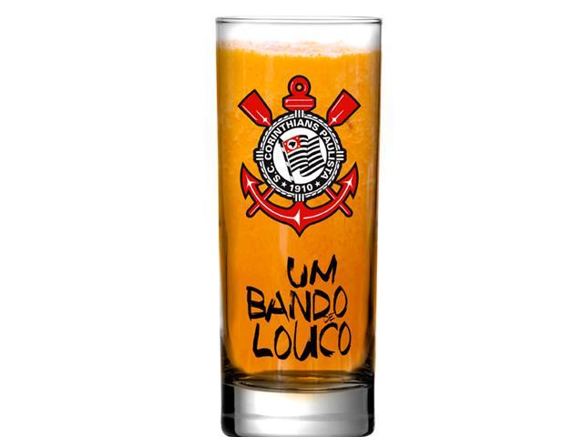 Copo Scotland de Vidro para Cerveja Corinthians Bando 330ML