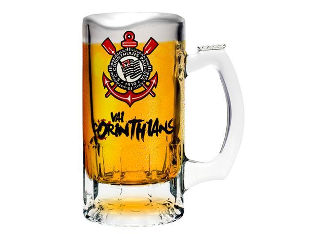 Caneca de Vidro para Cerveja Vai Corinthians 375ML