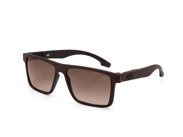 Óculos de Sol Mormaii Banks Marrom Madeira Lente Marrom Degradê