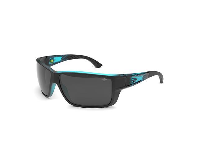 Óculos de Sol Mormaii Joaca III Preto Parede Azul Fosco Lente Cinza