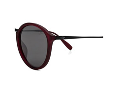 Óculos de Sol Mormaii Cali Burgundy Fosco Lente Cinza Flash Prata - 1