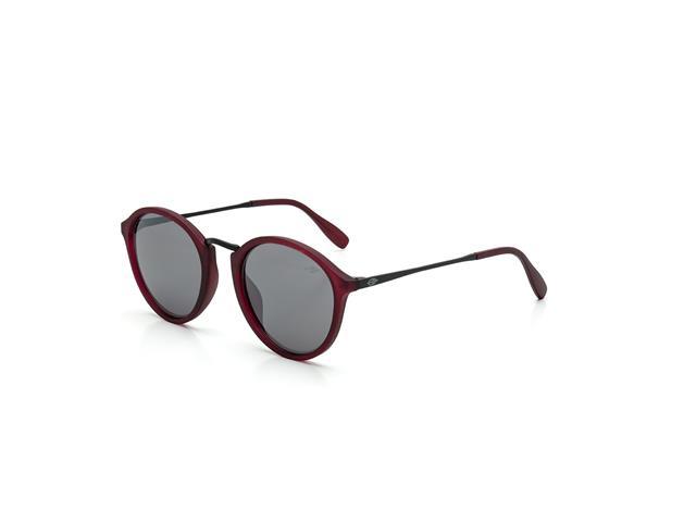 Óculos de Sol Mormaii Cali Burgundy Fosco Lente Cinza Flash Prata