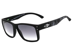 Óculos de Sol Mormaii Mumbai Preto Fosco Lente Cinza Degradê - 0