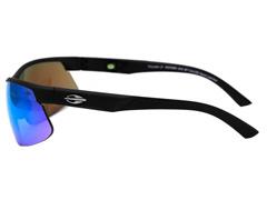 Óculos de Sol Mormaii Thunder II Preto Fosco Lente Azul Espelhada - 1
