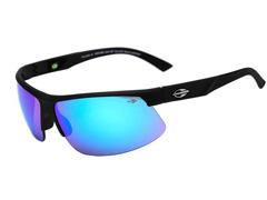 Óculos de Sol Mormaii Thunder II Preto Fosco Lente Azul Espelhada