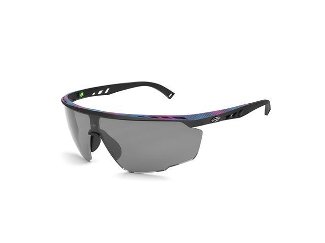 Óculos de Sol Mormaii Leap Preto com Superior Degradê Rosa e Azul