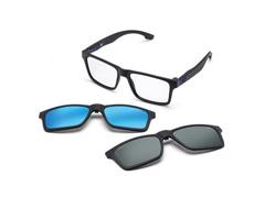 Armação Óculos de Grau Mormaii Swap Preto Fosco 2 Clips On Polarizados