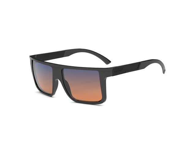 Óculos de Sol Colcci Garnet Brilho Preto Lente Degradê Azul e Laranja