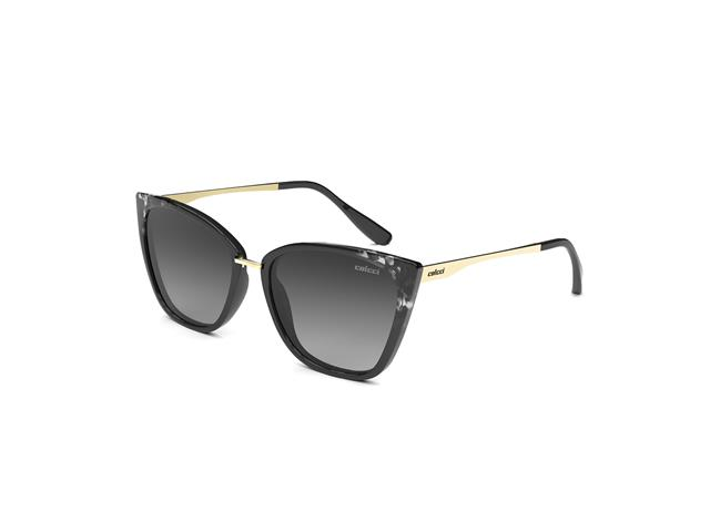 Óculos de Sol Colcci Aretha Preto e Branco com Dourado Lente Degradê